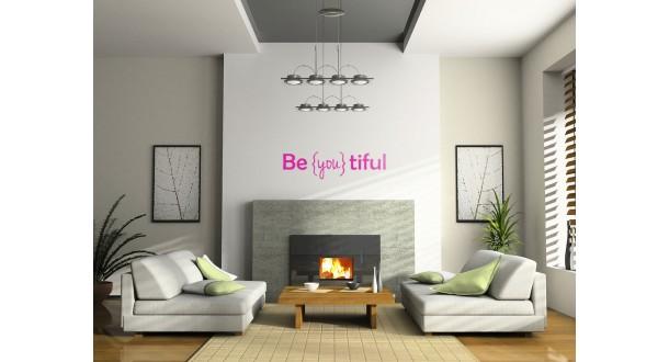 Be you tiful muurtekst