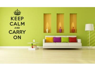 Keep calm and carry on muurtekst