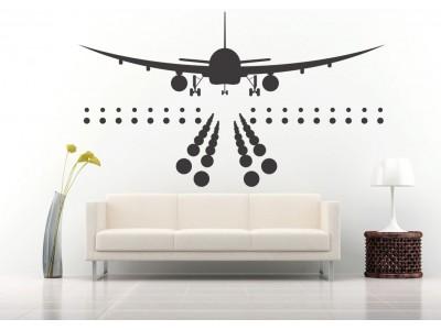 Landende vliegtuig