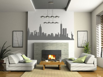 New York muursticker